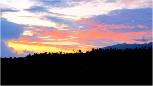Morning research sunrise over Mount Rinjani, Lombok island in Indonesia. This mountain was the geographical focus of my independent research project.