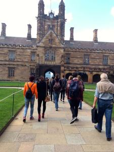 The Clock Tower entrance of The Quadrangle at The University of Sydney