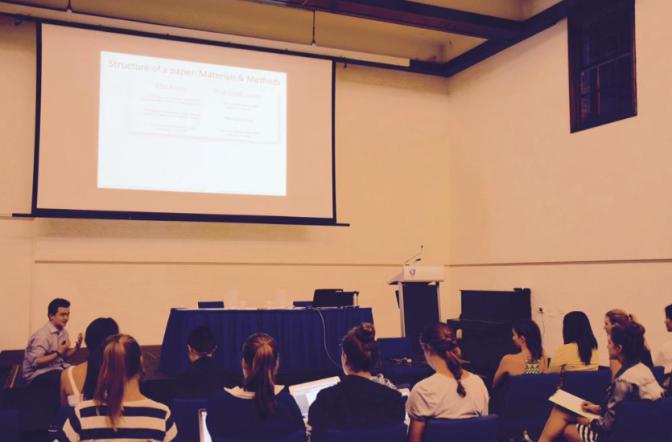 SciMed writing workshop 2015
